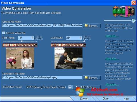 Ekran görüntüsü Active WebCam Windows 10