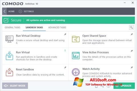 Ekran görüntüsü Comodo Antivirus Windows 10