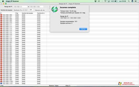 Ekran görüntüsü Angry IP Scanner Windows 10