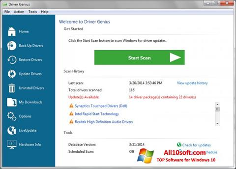 Ekran görüntüsü Driver Genius Professional Windows 10