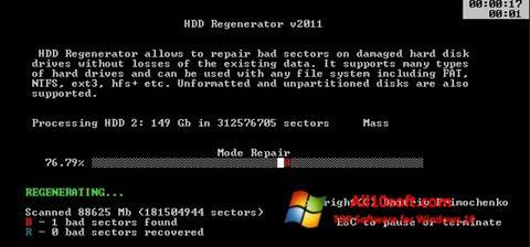 Ekran görüntüsü HDD Regenerator Windows 10