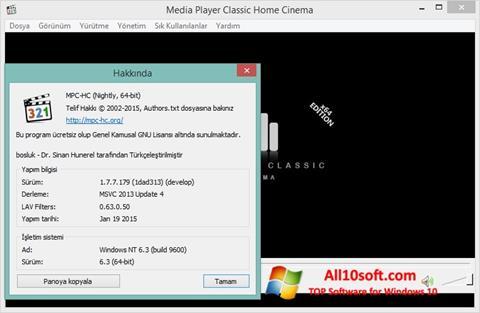 Ekran görüntüsü K-Lite Codec Pack Windows 10