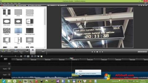 Ekran görüntüsü Camtasia Studio Windows 10