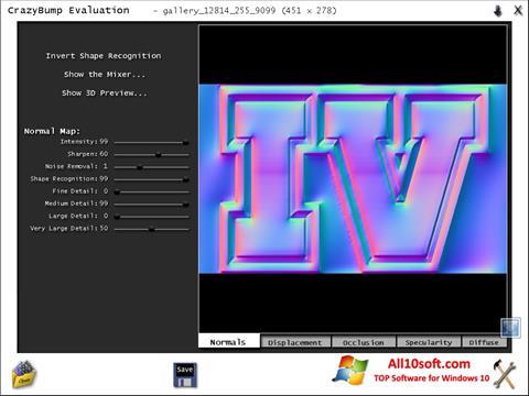 Ekran görüntüsü CrazyBump Windows 10