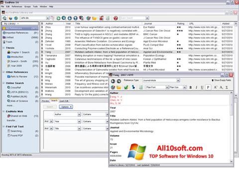 Ekran görüntüsü EndNote Windows 10