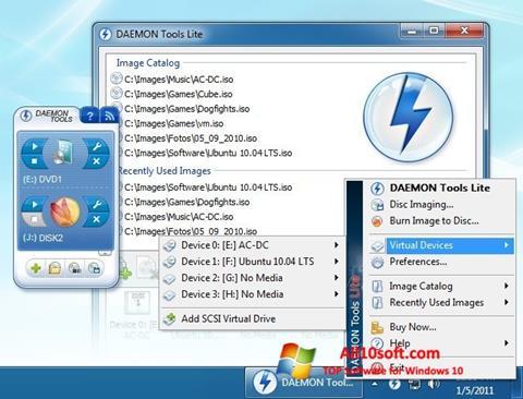 Ekran görüntüsü DAEMON Tools Lite Windows 10