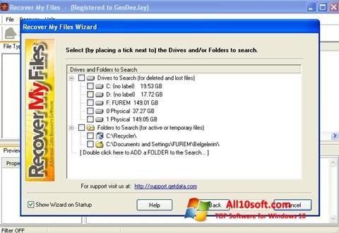 Ekran görüntüsü Recover My Files Windows 10
