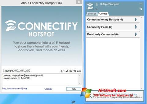 Ekran görüntüsü Connectify Windows 10