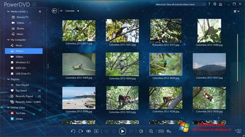 Ekran görüntüsü PowerDVD Windows 10