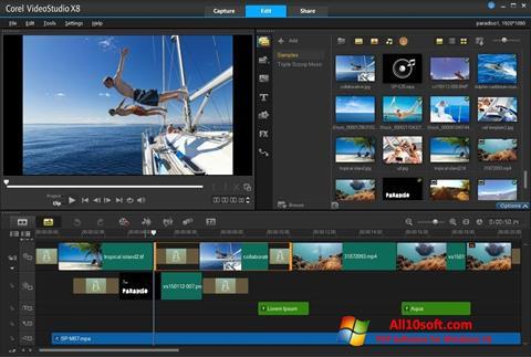 Ekran görüntüsü Corel VideoStudio Windows 10