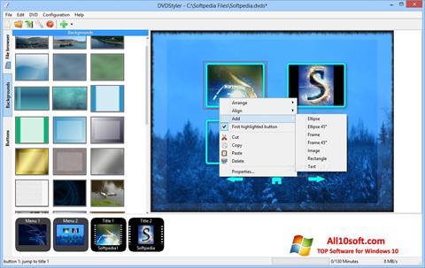 Ekran görüntüsü DVDStyler Windows 10