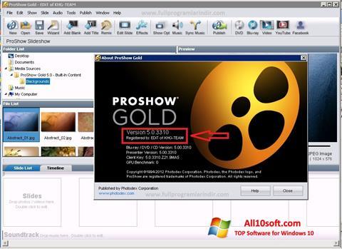 Ekran görüntüsü ProShow Gold Windows 10