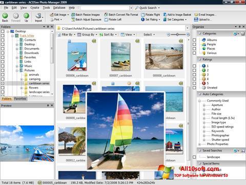 Ekran görüntüsü ACDSee Photo Manager Windows 10