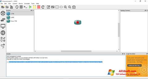 Ekran görüntüsü GNS3 Windows 10
