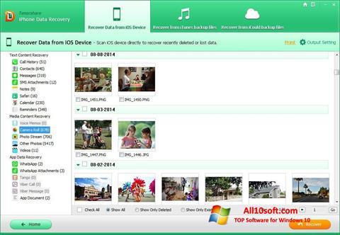 Ekran görüntüsü iPhone Data Recovery Windows 10