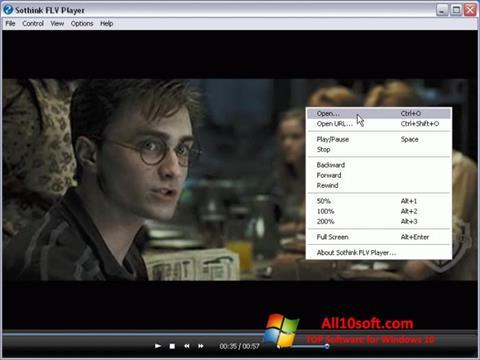 Ekran görüntüsü FLV Player Windows 10
