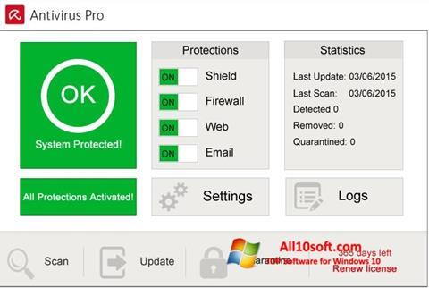 Ekran görüntüsü Avira Antivirus Pro Windows 10