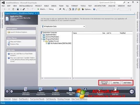 Ekran görüntüsü InstallShield Windows 10