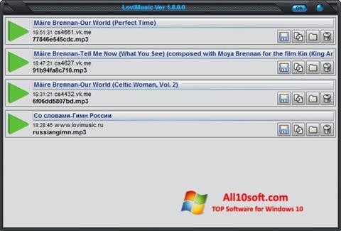 Ekran görüntüsü LoviMusic Windows 10