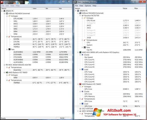 Ekran görüntüsü Open Hardware Monitor Windows 10