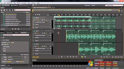 Ekran görüntüsü Adobe Audition CC Windows 10