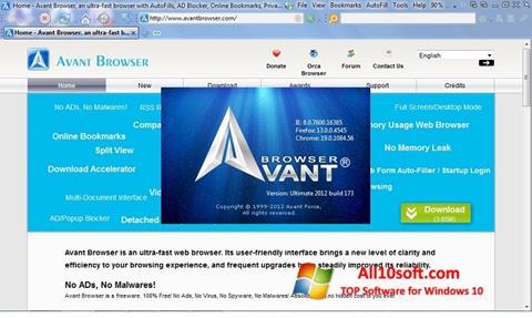 Ekran görüntüsü Avant Browser Windows 10