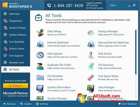 Ekran görüntüsü Auslogics BoostSpeed Windows 10