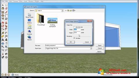 Ekran görüntüsü SketchUp Windows 10