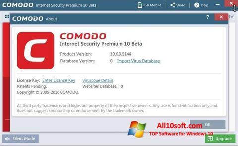 Ekran görüntüsü Comodo Windows 10