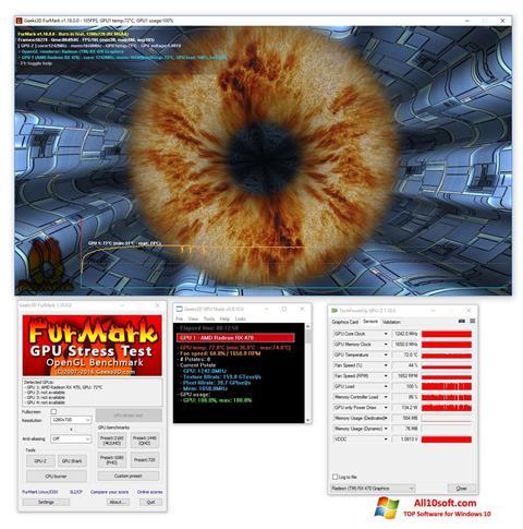 Ekran görüntüsü FurMark Windows 10