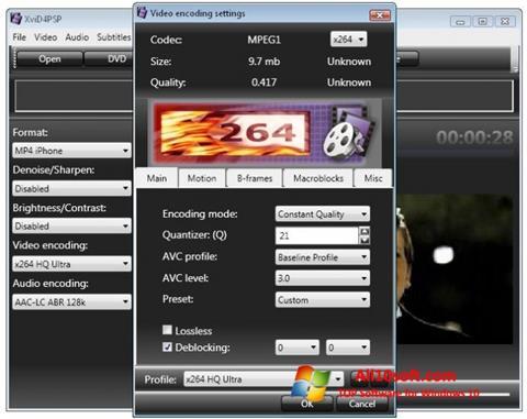 Ekran görüntüsü XviD4PSP Windows 10