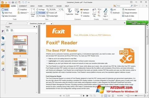 Ekran görüntüsü Foxit Reader Windows 10