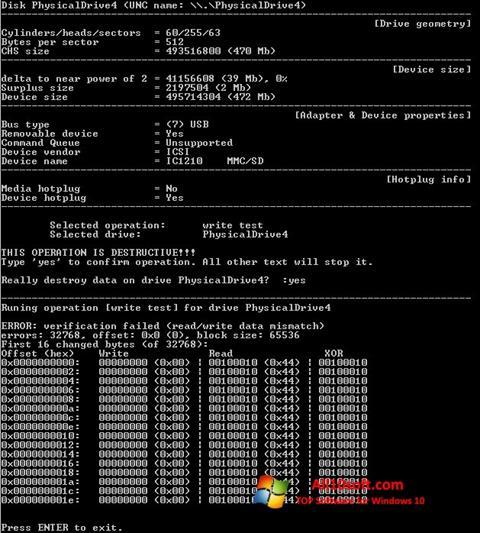Ekran görüntüsü Flashnul Windows 10