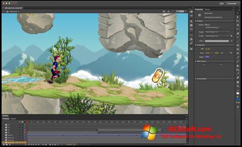 Ekran görüntüsü Adobe Flash Professional Windows 10