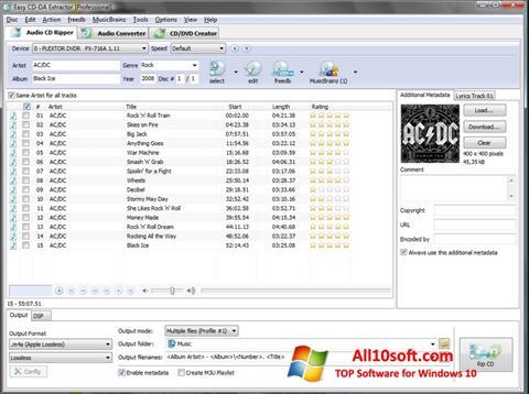 Ekran görüntüsü Easy CD-DA Extractor Windows 10