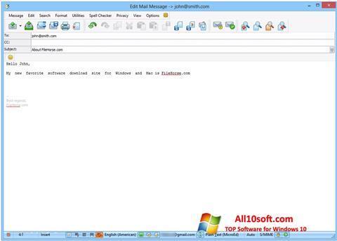 Ekran görüntüsü The Bat! Windows 10