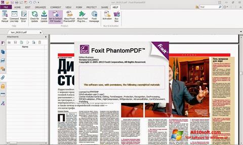 Ekran görüntüsü Foxit Phantom Windows 10
