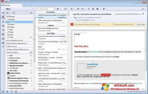 Ekran görüntüsü Opera Mail Windows 10