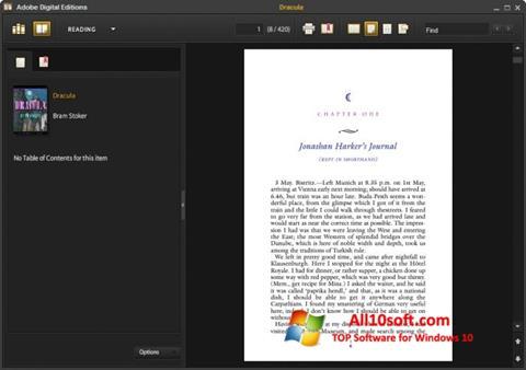 Ekran görüntüsü Adobe Digital Editions Windows 10