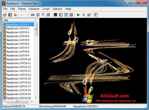 Ekran görüntüsü Apophysis Windows 10