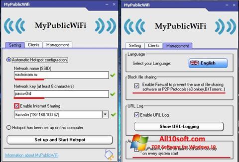 Ekran görüntüsü MyPublicWiFi Windows 10