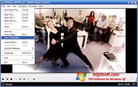 Ekran görüntüsü Media Player Classic Windows 10