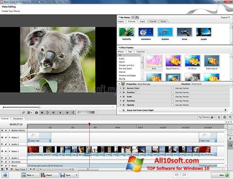 Ekran görüntüsü Nero Vision Windows 10