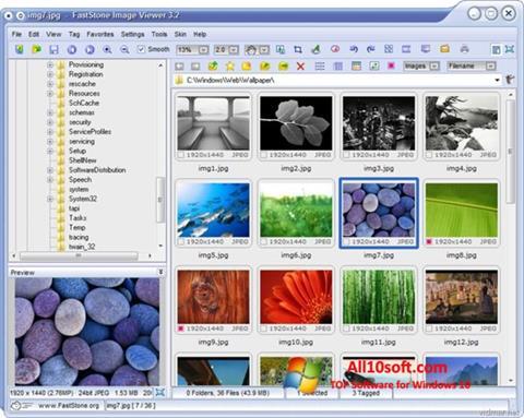 Ekran görüntüsü FastStone Image Viewer Windows 10