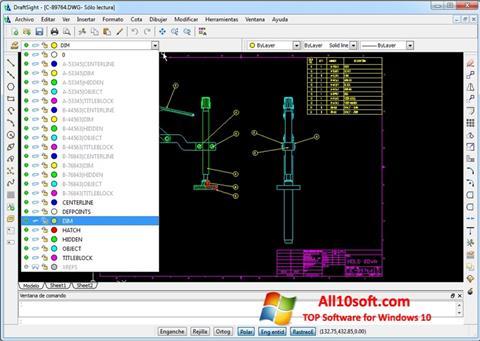 Ekran görüntüsü DraftSight Windows 10
