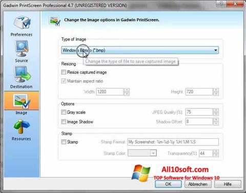 Ekran görüntüsü Gadwin PrintScreen Windows 10
