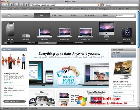 Ekran görüntüsü Safari Windows 10