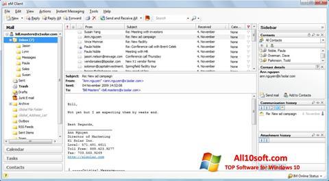 Ekran görüntüsü eM Client Windows 10