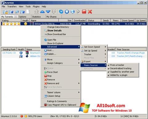 Ekran görüntüsü Vuze Windows 10