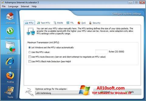 Ekran görüntüsü Ashampoo Internet Accelerator Windows 10